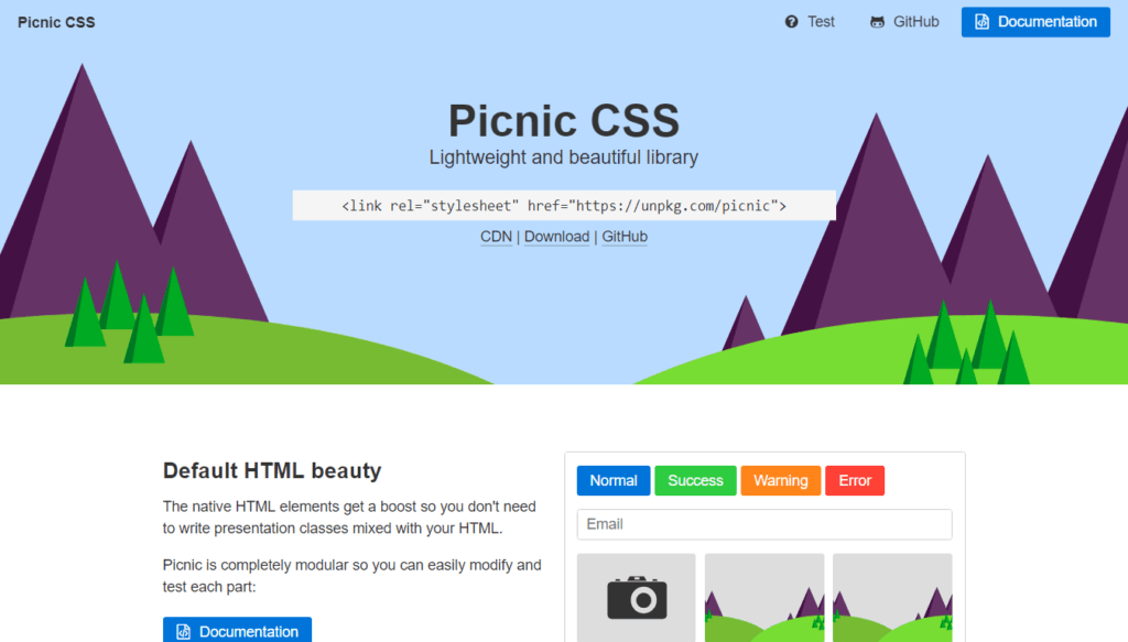 CSS Frameworks: Picnic CSS