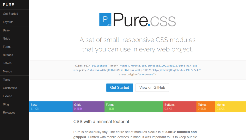 CSS Frameworks: Pure CSS
