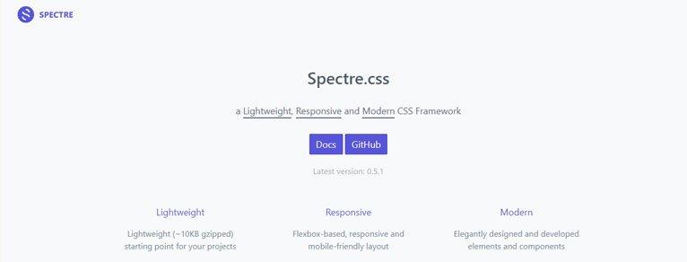 CSS Frameworks: Spectre