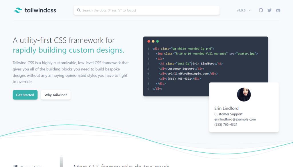 CSS Frameworks: Tailwind