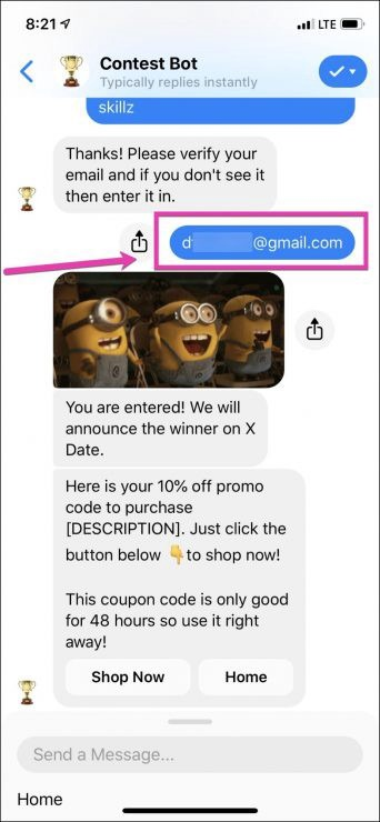 Chatbot marketing para concursos