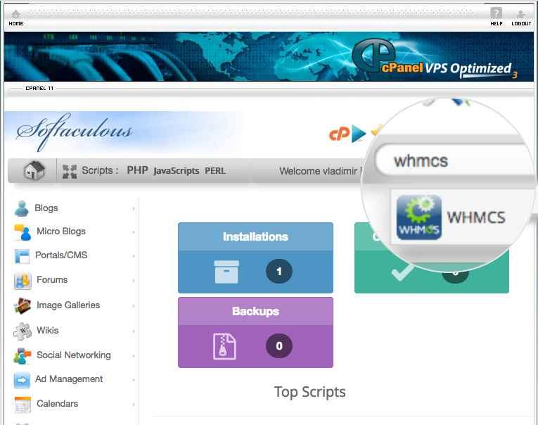Instalar WHMCS